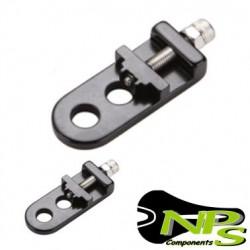 Tensores de rueda NPS Aluminio eje 9mm NEGRO