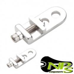 Tensores de rueda NPS Aluminio eje 9mm PLATA