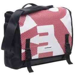 Bandolera NEW LOOXS mensajero postino office rojo-blanco-negro 14 litros