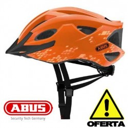 OFERTA Casco ABUS S-CENSION NARANJA Brillo