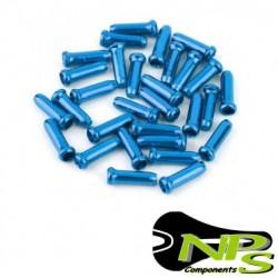 Conjunto 10 TERMINALES Cable NPS Aluminio AZUL