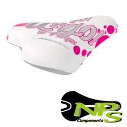 Sillín Infantil NPS con nuez U-GO BLANCO Rosa