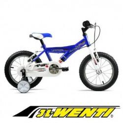 """Bicicleta Infantil 14"""" JL WENTI Cuadro Y AZUL Blanco"""