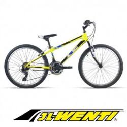"""Bicicleta Montaña JL 24"""" Shimano AMARILLO Fluor"""