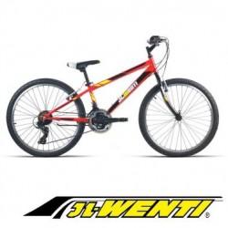 "Bicicleta Montaña JL 24"" Shimano ROJO"