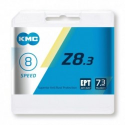 Cadena KMC Z8 EPT 114 eslabones 6-7-8V inoxidable