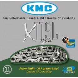 Cadena KMC X11SL 114 eslabones 11V plata