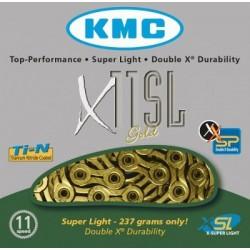 Cadena KMC X11SL 114 eslabones 11V oro