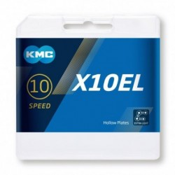 Cadena KMC X10EL 114 eslabones 10V oro