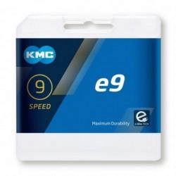 Cadena KMC EBIKE E9 136 eslabones 9V cromada