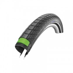 Cubierta SCHWALBE BIG APPLE PLUS 26x2.15  HS430 GREENGUARD TWINSKIN ENDURANCE rígida negra reflectante