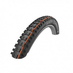 Cubierta SCHWALBE delantera EDDY CURRENT 27.5x2.80 HS496 SUPER GRAVITY SNAKE SKIN ADDIX SOFT TUBELESS EASY plegable negra