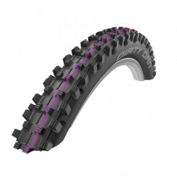 Cubierta SCHWALBE DIRTY DAN 27.5x2.35 HS417 TUBELESS EASY SNAKESKI SUPER GRAVITY ADDIX ULTRASOFT plegable negra
