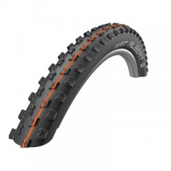 Cubierta SCHWALBE FAT ALBERT FRONT 27.5X2.35 HS477 TUBELESS EASY SNAKESKIN  ADDIXSOFT plegable negra