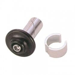 Tapones POINT de manillar de aluminio negros 2 unidades