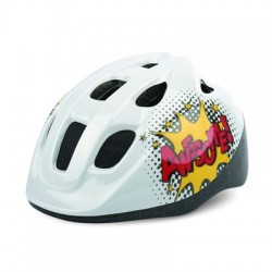 Casco POLISPORT JUNIOR COMICS blanco-amarillo