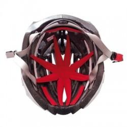 Kit acolchado para casco OCTOPLUS efecto mariposa rojo con velcro
