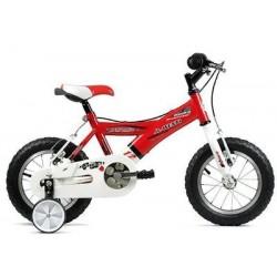 "Bicicleta infantil 12"" JL WENTY roja-blanca"