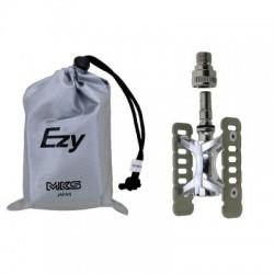 Pedal MESSINGSCHLAGER MKS EZY con clip desmontable aluminio color titanio