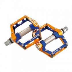 Pedal plataforma XPEDO FACE OFF 18 MTB azul-dorado
