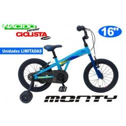 "Bicicleta Infantil MONTY 103 16"" Aluminio Azul"