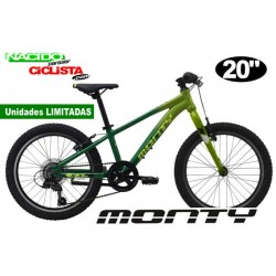 """Bicicleta Infantil MONTY KX5R 20"""" Aluminio VERDE"""
