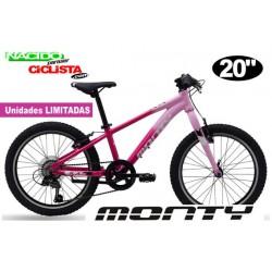 "Bicicleta Infantil MONTY KX5R 20"" Aluminio ROSA"