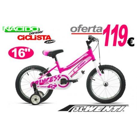 "Bicicleta Infantil 16"" JL WENTI ROSA FLUOR"
