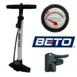 Bomba de Bicicleta BETO ACERO Manómetro Taller