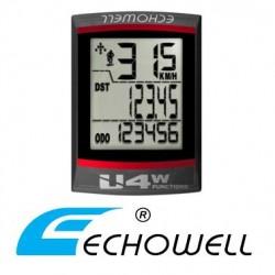Cuentakilómetros Bicicleta ECHOWELL U4W con cable NEGRO