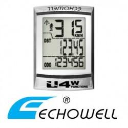 Cuentakilómetros Bicicleta ECHOWELL U4W con cable BLANCO
