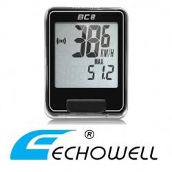 Cuentakilómetros Bicicleta ECHOWELL BC8 con cable NEGRO